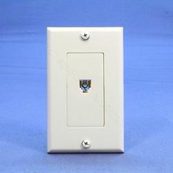 Leviton C2449-W Decora Telephone Wallplate, White