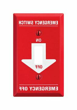 Amerelle C972T 1 Toggle Pro-Red Emergency Wall Plate, Red