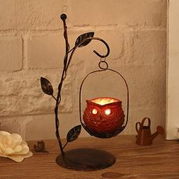 Candle Holders - Owl Candlestick Iron Candle Holders Decorat