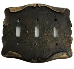 Amerock Carriage House 3 Gang Switch Plate Wall Light Cover