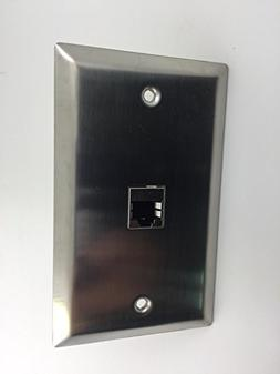 Sancable-1 Port Cat 6 Shielded Female to Female Stainless St