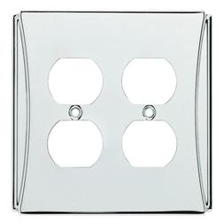 Chrome Double Duplex Wall Plate Brainerd W35396
