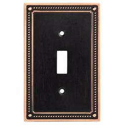 Franklin Brass Classic Beaded Single Toggle Switch Wall Plat