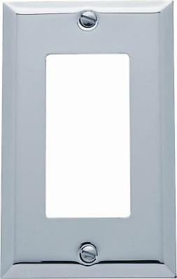 Baldwin Classic Square Bevel Design Single GFCI Switch Plate
