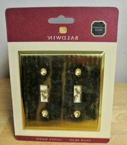 Baldwin Classic Square Bevel Design Double Toggle Switch Pla