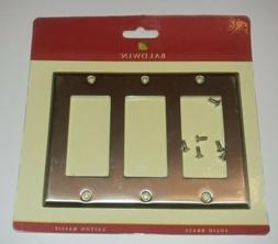 Baldwin Classic Square Bevel Design Triple GFCI Switch Plate