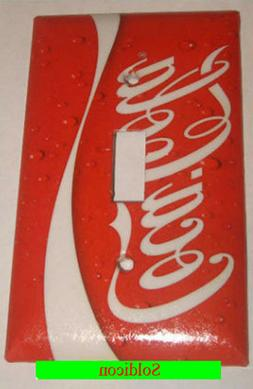 Coke Coca Cola Logo Light Switch Power Outlet wall Cover Pla