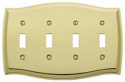 Baldwin Colonial 4-Gang Toggle Switch Wall Plate