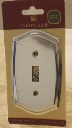 Baldwin Colonial Design Single Toggle Switch Plate Polished