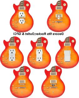 Coloriffic Sunburst Electric Guitar shape wall plate Switch