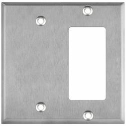 ENERLITES Combination Wall Plate Blank / Decorator Switch Co