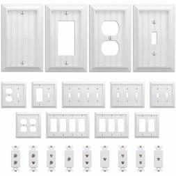 Country Cottage White Wood Wall Switch Plate Power Outlet GF