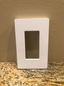 Lutron CW-1-WH Single Gang Claro Wall Plate White