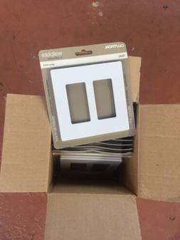 Lutron CW-2-WH Dual Gang Claro Wall Plate White You Get 12 O