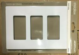 Lutron sc-3-sw 3-Gang Claro Wall Plate, satin  6 Of Them lot