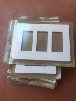 Lutron CW-3-WH 3-Gang Claro Wall Plate, White  6 Of Them