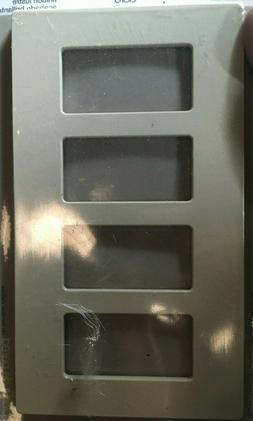 Lutron CW-4-IV 4-Gang Ivory Wall Plate