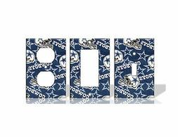 Dallas Cowboys #2 Blue Light Switch Covers Football NFL Home