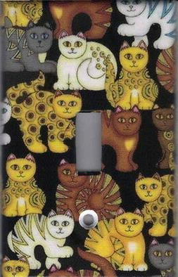 DECO ART CATS  HOME WALL DECOR SINGLE LIGHT SWITCH PLATE