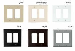 Leviton Decora 2 Gang Wall Plate Faceplate Midway Size Nylon