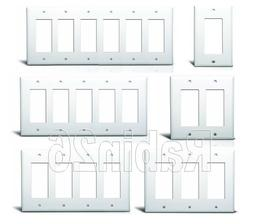 DECORA GFCI PLASTIC WALL COVER PLATE 1 2 3 4 5 6 GANG TOGGLE