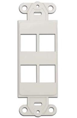 CableWholesale Decora Wall Plate Insert with 4 Keystone Jack