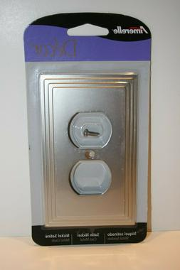 Amerelle Decora Wall Plate outlet steps satin nickel 84DN