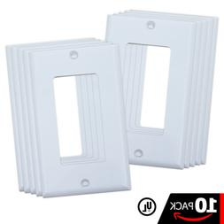 Decora White Wall Plates with Screws for Light Switch & Elec