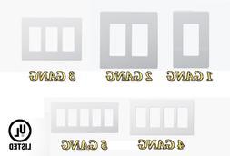 DECORATIVE SCREWLESS SNAP IN COVERS 1G/2G/3G/4G/5G ENERLITES