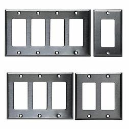 Decorator Brushed Stainless Rocker Wall Switch Plate Outlet
