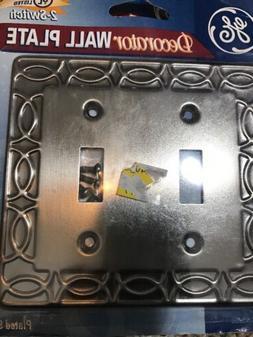 GE Decorator  Plate Electric Power Light 2 Switch Wallplate