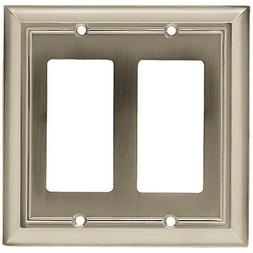 Decorator Rocker/GFI Wall Plate, 2-Gang, Architectural, Sati