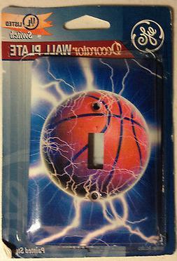 GE DECORATOR Wall Plate Basketball Lightning New FREE SHIPPI