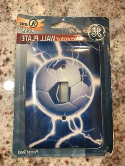 GE DECORATOR Wall Plate Soccer Lightning New FREE SHIPPING