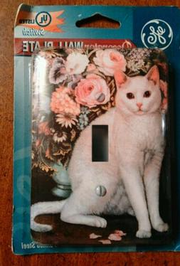 GE Decorator Wall Plate Switch White Cat