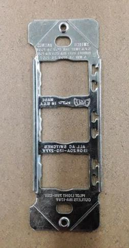 EAGLE DESPARD 3 GANG BRIGHT ZINC STEEL WALL PLATE MOUNTING S