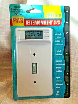 Plate Pals Digital Display Wall Plate Thermometer Relative H