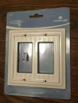 Brainerd double decorator beadboard white Wall Plate # 12646