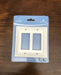 Brainerd Double Decorator Wall Plate, White  Item # 126336
