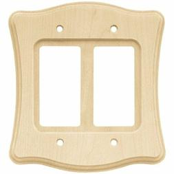 double decorator wood 64430 scallop wall plate