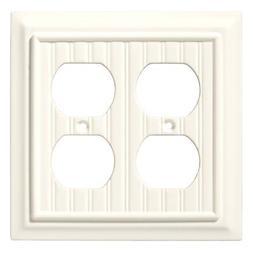 Double Duplex Wall Plate Architectural White Beadboard Brain