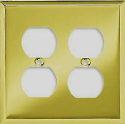 Double Duplex - Wall Plate - Plated Brass # 64386 Brainerd L