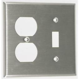 Leviton Double Gang Combination Toggle & Duplex Receptacle W