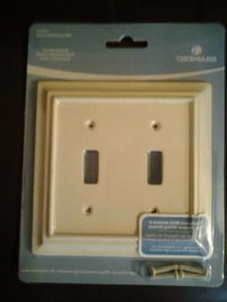 Double Light Switch WallPlate Cover. Wood Decorator Plate. A