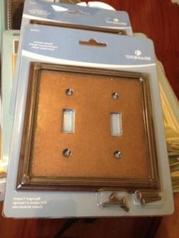 Brainerd  Double Switch wall plate 135765 ,Sponged Copper