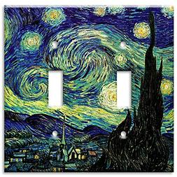 Double Gang Toggle Wall Plate - Van Gogh: Starry Night