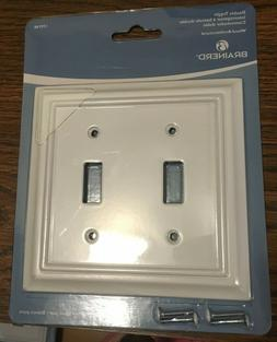 Brainerd double toggle pure white Wall Plate # 179748