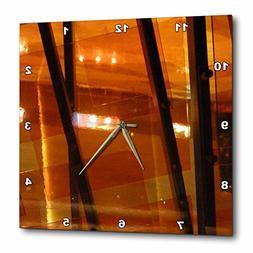3dRose dpp_29795_3 Orange Contemporary-Wall Clock, 15 by 15-