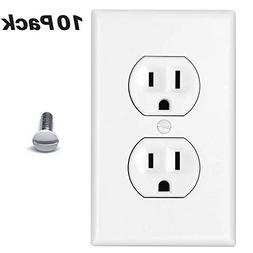 Duplex Outlet Covers 10 Pack 1-Gang Duplex Outlet Wall Plate