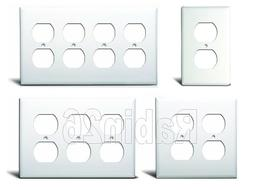 DUPLEX OUTLET PLUG RECEPTACLE PLASTIC WALL COVER PLATE 1 2 3